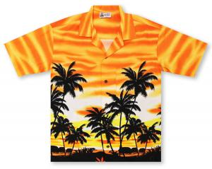 Aloha Republic Palm Sway - Orange Hawaiian Shirt